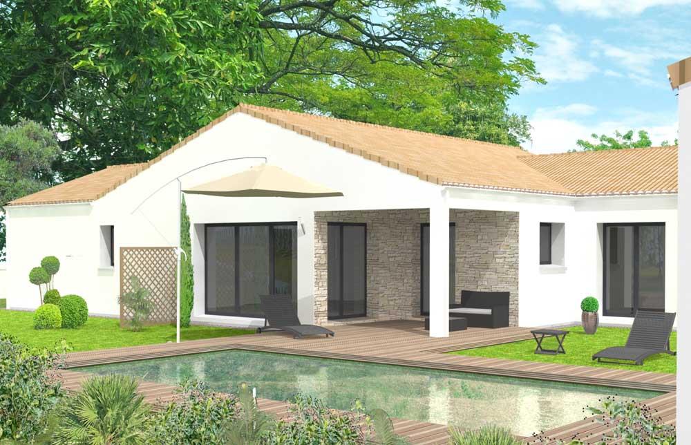 Maison SATOV contemporaine et son jardin verdoyant