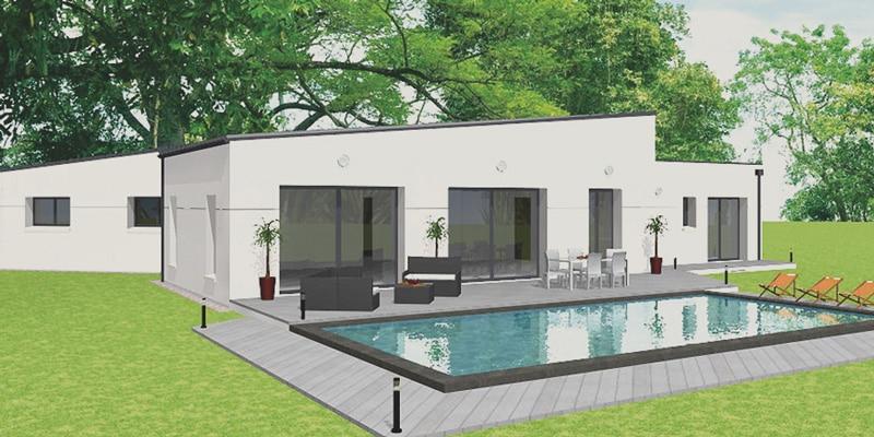 Projet de maison avec piscine SATOV