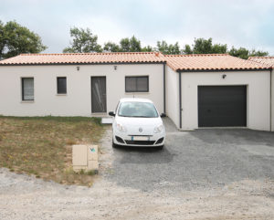 Construction finalisée d'une maison SATOV à Aizenay